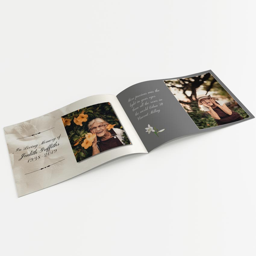 Picture of Lilies – A5 Softback Memory Book