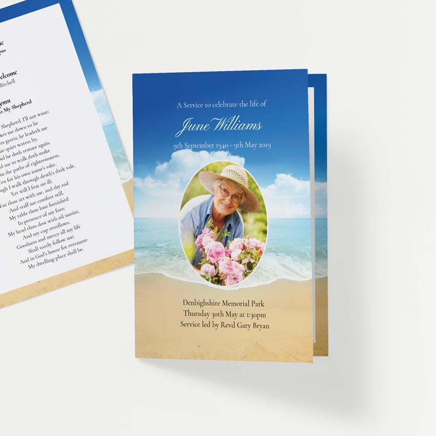 Picture of Peaceful Seashore – Order of Service