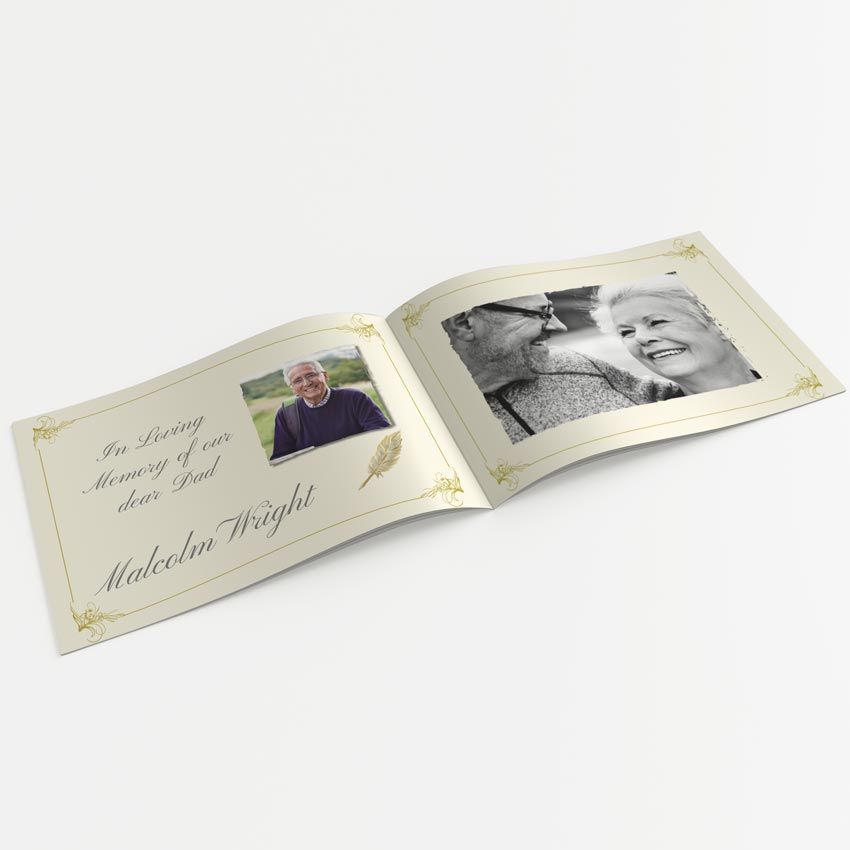 Picture of Golden Memories – A5 Softback Memory Book