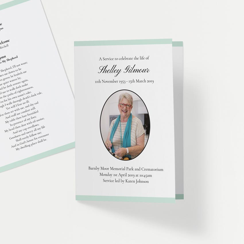 Picture of Pastel Green Stripe – Order of Service